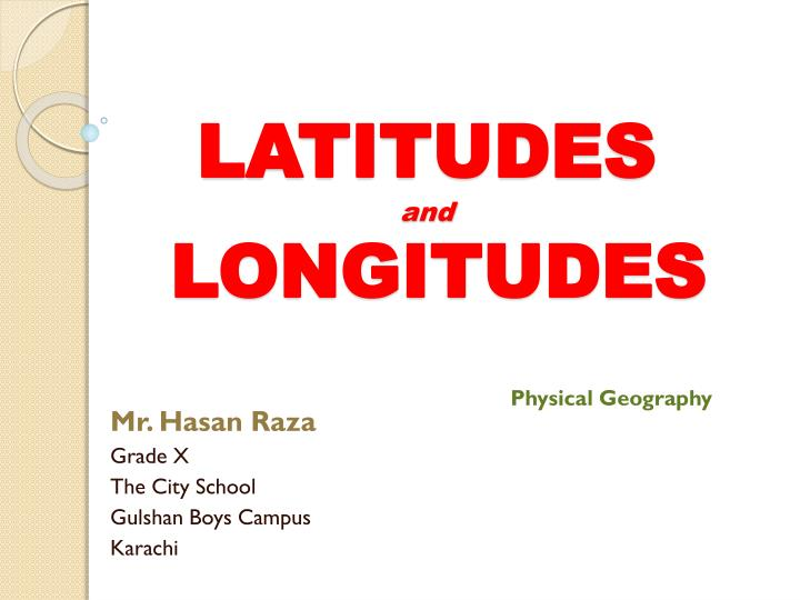latitudes and longitudes n.