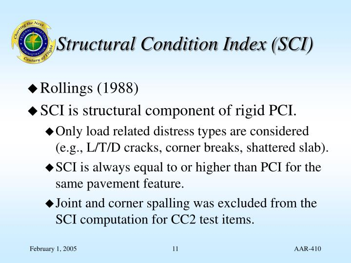 Structural Condition Index (SCI)