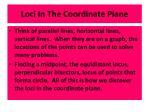 loci in the coordinate plane