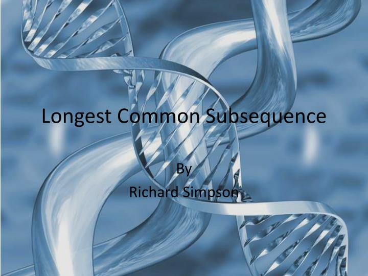 longest common subsequence n.