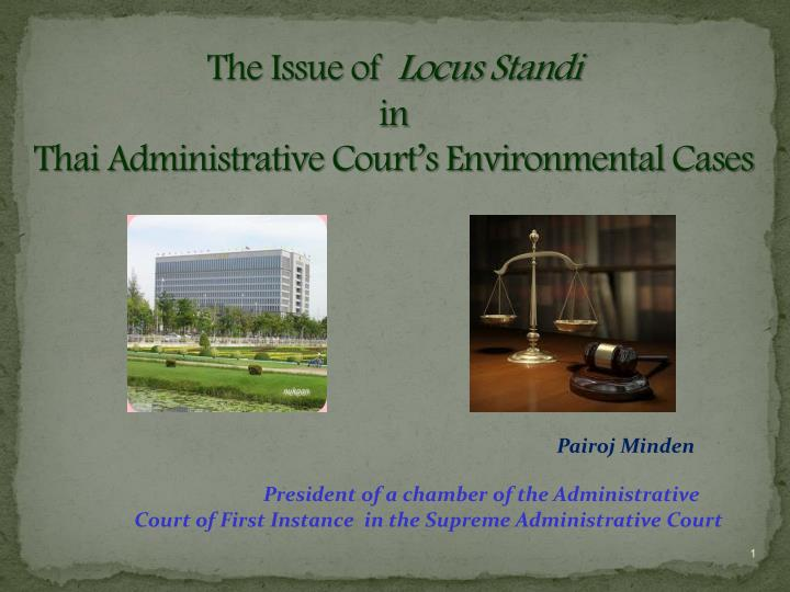 the issue of locus standi in thai administrative court s environmental c ases n.