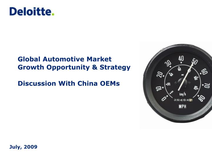 global automotive market growth opportunity strategy discussion with china oems n.