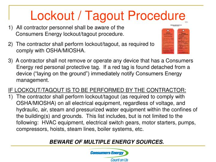 Fine Lockout Tagout Procedure Template Ideas - Examples Professional ...