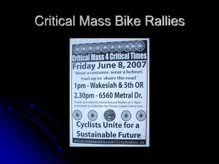 Critical Mass Bike Rallies