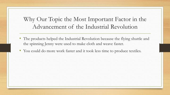 Why Our Topic the Most Important