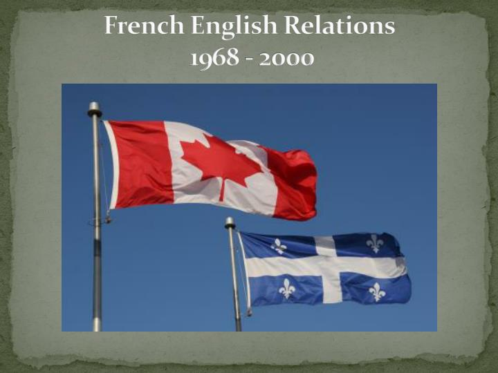 french english relations essay