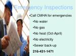 emergency inspections