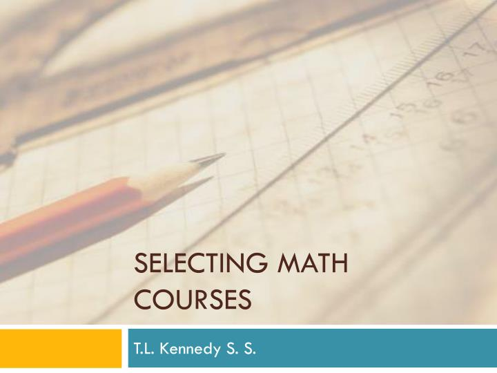 selecting math courses n.
