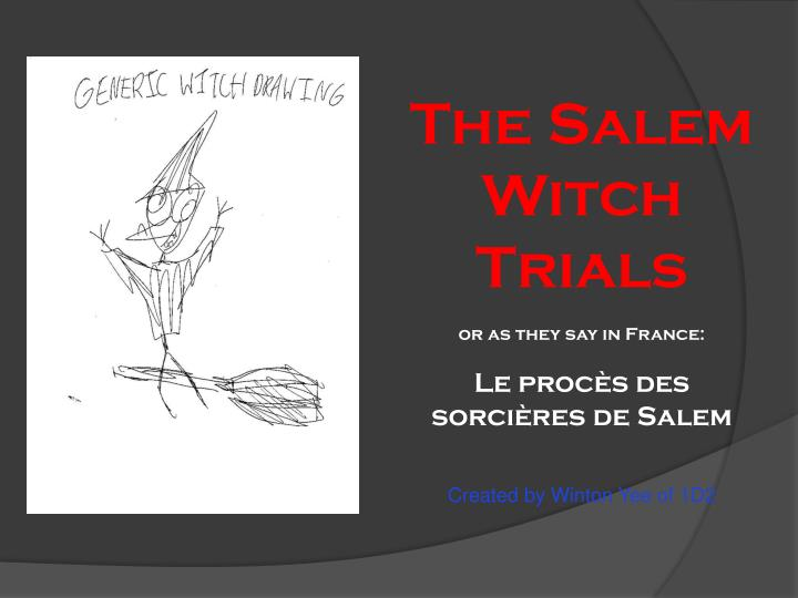 "argumentative essay on salem witch trials The crucible thesis statements and essay american history known as the salem witch trials write an argumentative essay on ""the crucible"" in."