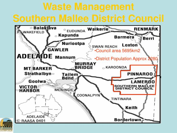 waste management southern mallee district council n.