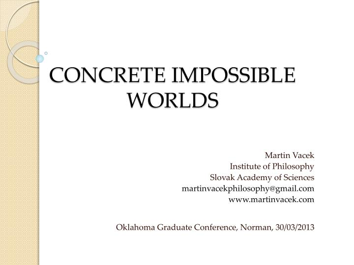 concrete impossible worlds n.