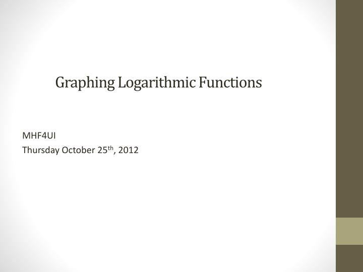 graphing logarithmic functions n.