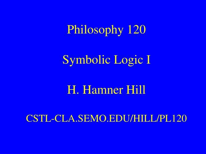 philosophy 103 Philosophy 103: introduction to logic diagramming arguments abstract: analyzing the structure of arguments is clarified by representing the logical relations in diagram form.