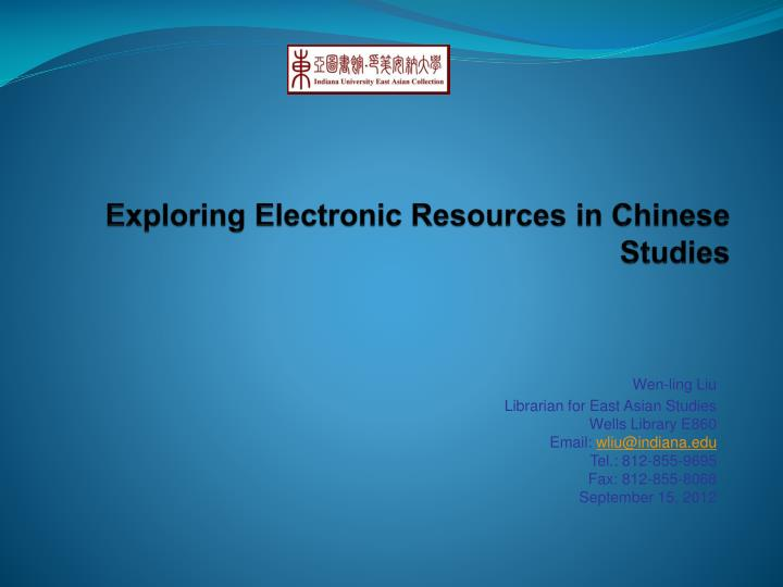 exploring electronic resources in chinese studies n.