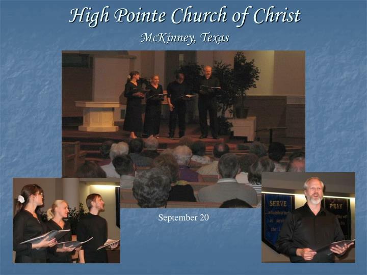 High Pointe Church of Christ