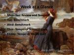 week at a glance