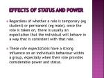 effects of status and power1