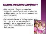 factors affecting conformity3