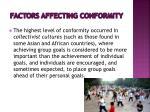 factors affecting conformity5