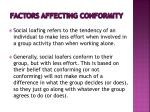 factors affecting conformity6