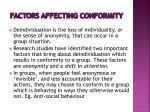 factors affecting conformity7