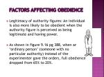 factors affecting obedience1