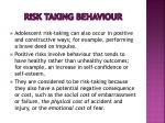 risk taking behaviour1