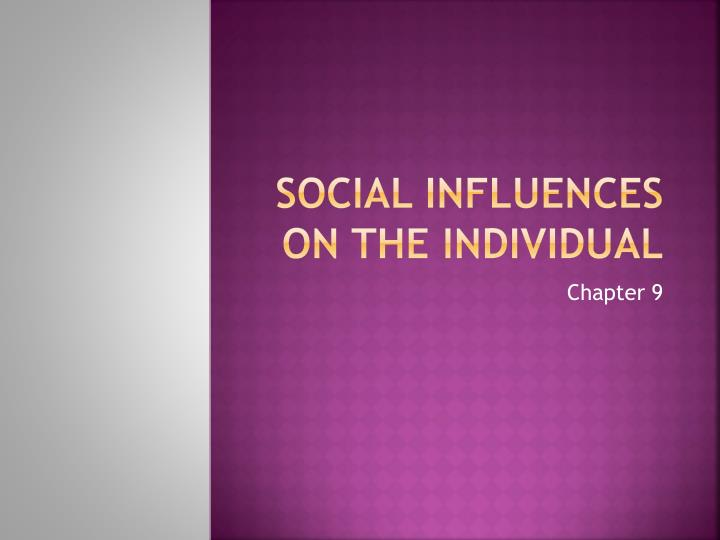 social influences on the individual n.