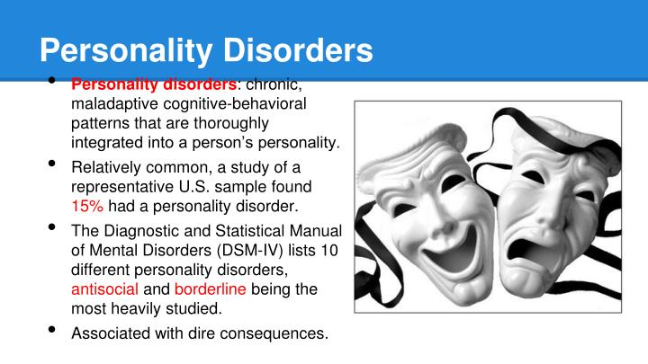 a study of abnormal psychology anti social personality disorder Antisocial personality disorder is the most reliably diagnosed condition among the personality disorders, yet treatment efforts are notoriously difficult therapeutic hope has not vanished, however, and one study indicated that almost two-thirds of psychiatrists think that psychopathic disorder is.