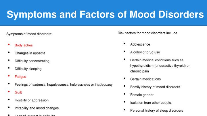 Mood disorder case study