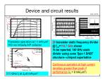 device and circuit results