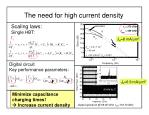 the need for high current density
