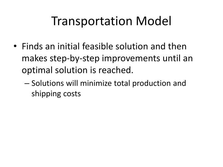 Transportation Model
