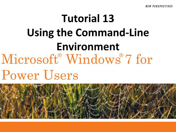 tutorial 13 using the command line environment n.