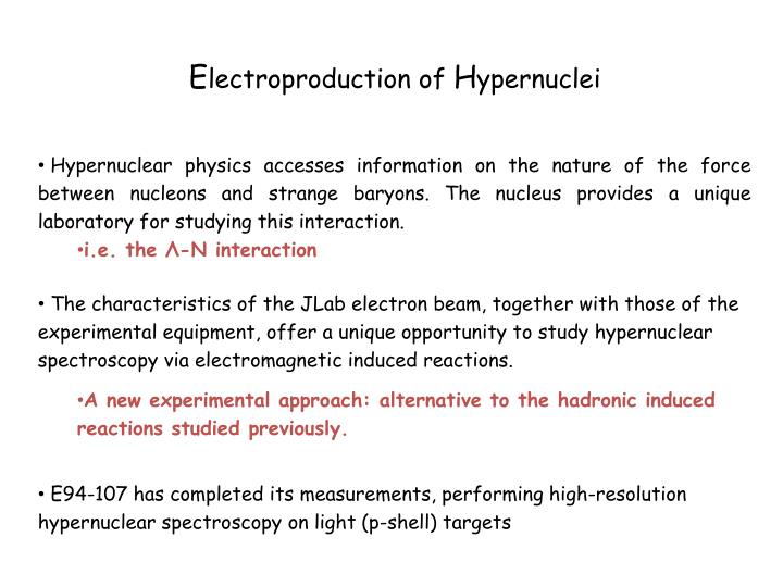 E94 107 hypernuclear spectroscopy experiment status