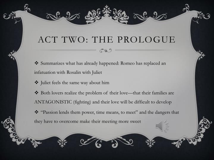 Act two the prologue