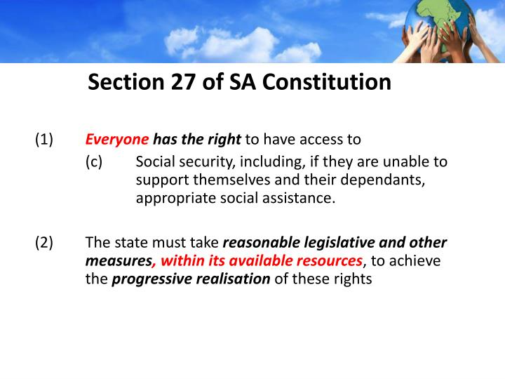 Section 27 of sa constitution