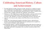 celebrating american history culture and achievement