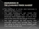equilibrium in the loanable funds market1