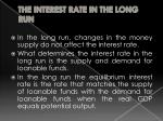 the interest rate in the long run3