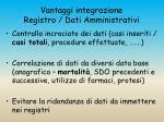 vantaggi integrazione registro dati amministrativi