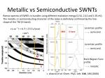 metallic vs semiconductive swnts