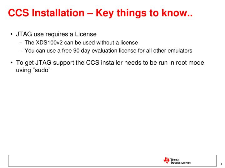 CCS Installation – Key things to know..