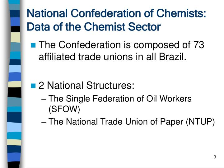 National confederation of chemists data of the chemist sector1