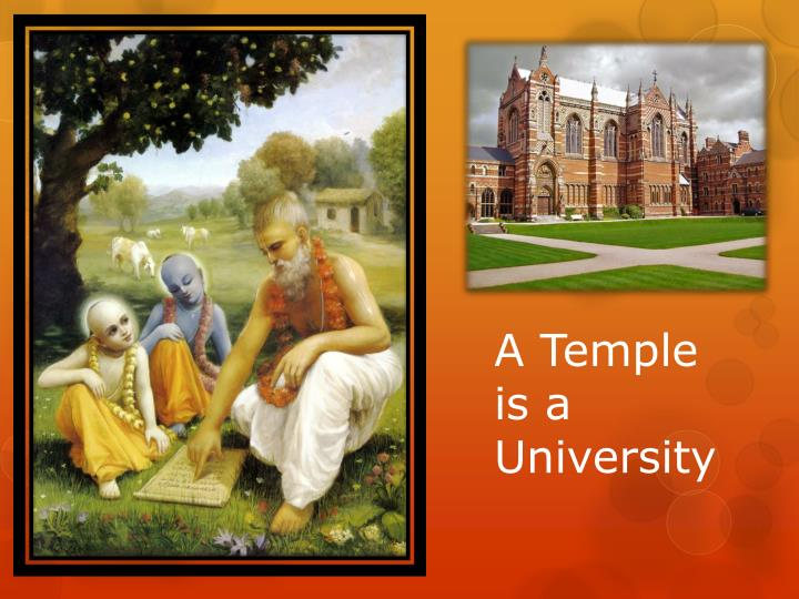 a temple is a university n.