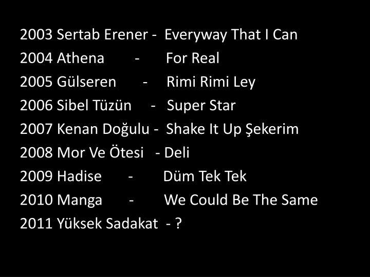 2003 Sertab Erener -