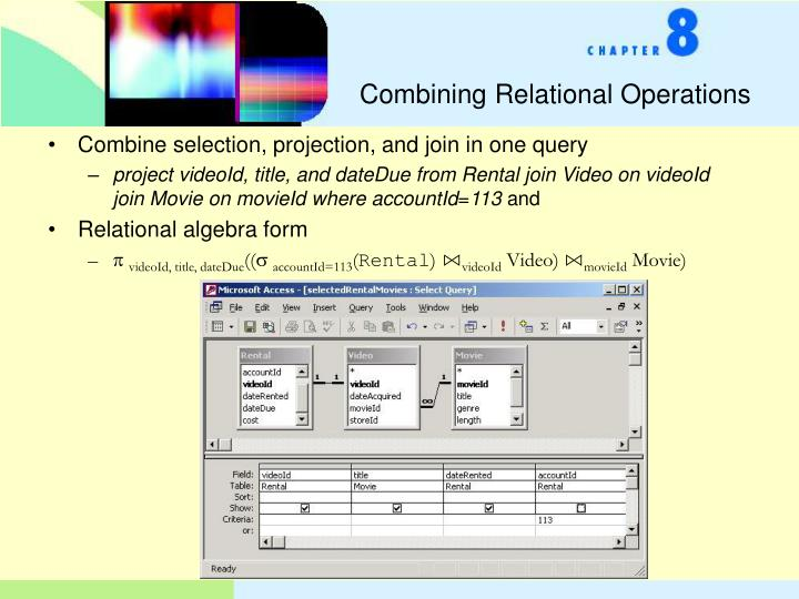 Combining Relational Operations