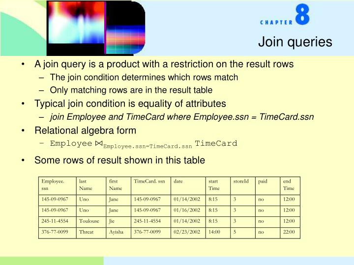 Join queries