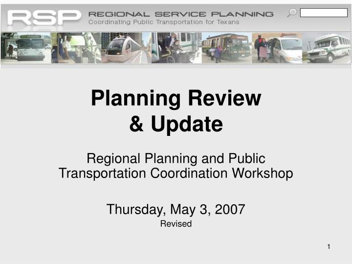 planning review update n.