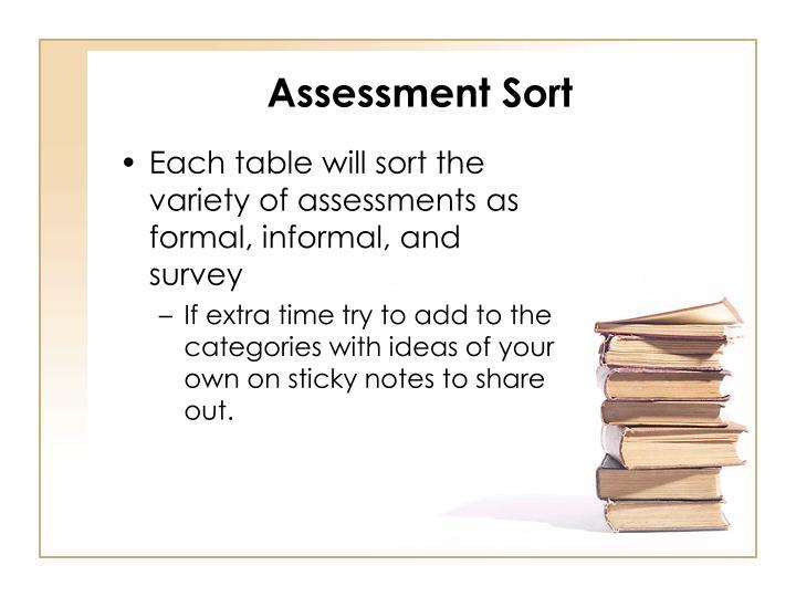 Assessment Sort